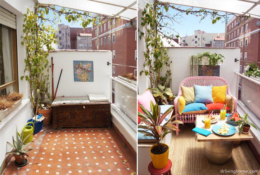 Antes y despu s la decoraci n de mi terraza blog for Paredes de patios decoradas
