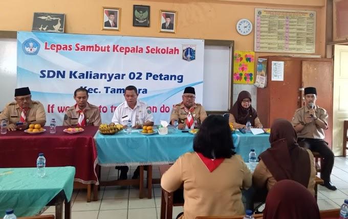 Kepala Satuan Pelaksana (Kasatlak) Pendidikan Kecamatan Tambora Hadir Di Acara Lepas Sambut Kepala Sekolah SDN Kali Anyar 02 Petang