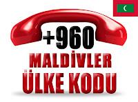 +960 Maldivler ülke telefon kodu