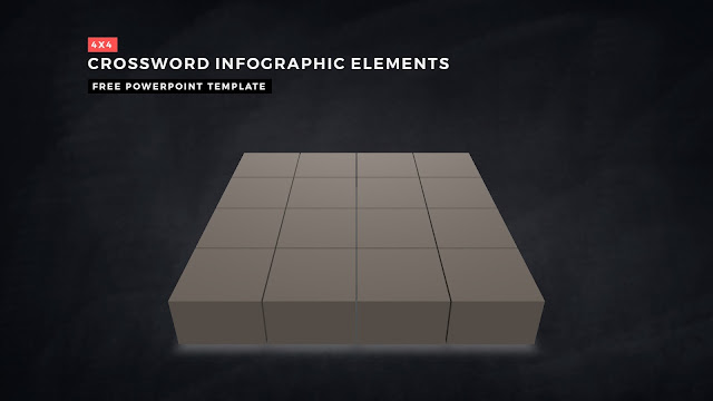 Crossword Puzzles Infographic Elements for PowerPoint Templates with Dark Background Slide 1
