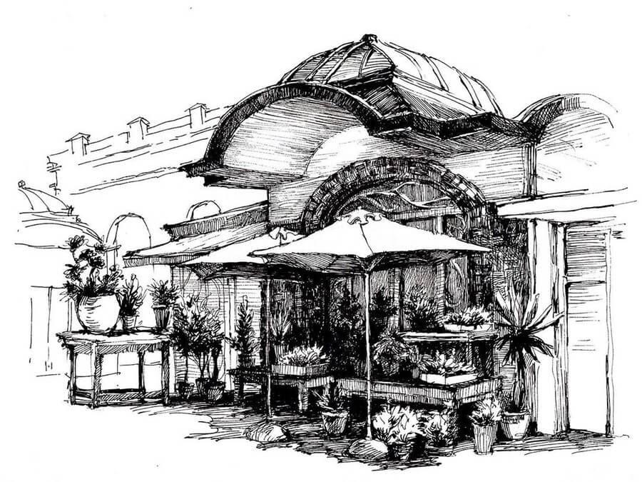 06-Flower-Shop-sketches-Asmik-Babaian-www-designstack-co