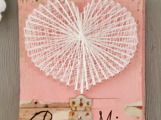 Rustic Valentine String Art