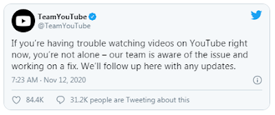 YouTube Down, Ini Penjelasan dari YouTube