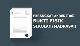 Download Bukti Fisik akreditasi 124 Butir SMP/MTs 2019/2020 Sesuai Sispena