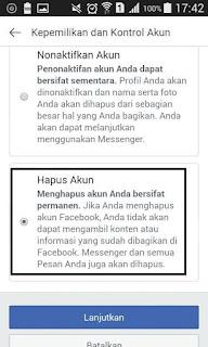 Cara Mudah Menghapus Akun Facebook Secara Permanen di HP