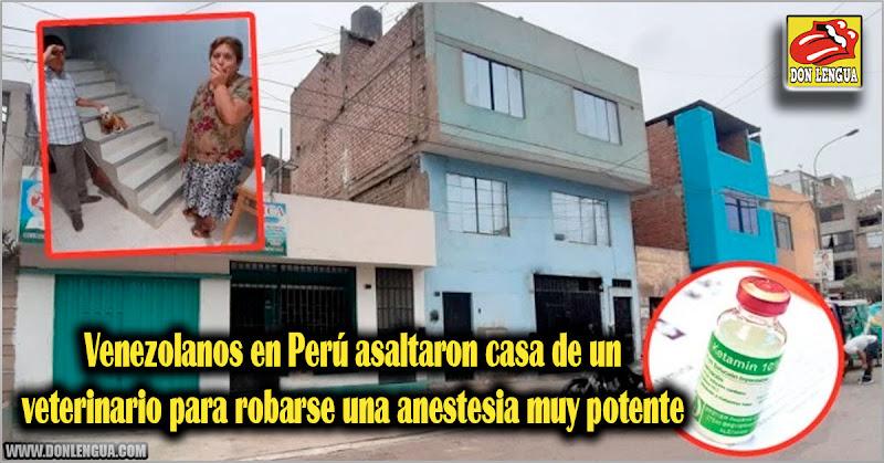 Venezolanos en Perú asaltaron casa de un veterinario para robarse una anestesia muy potente