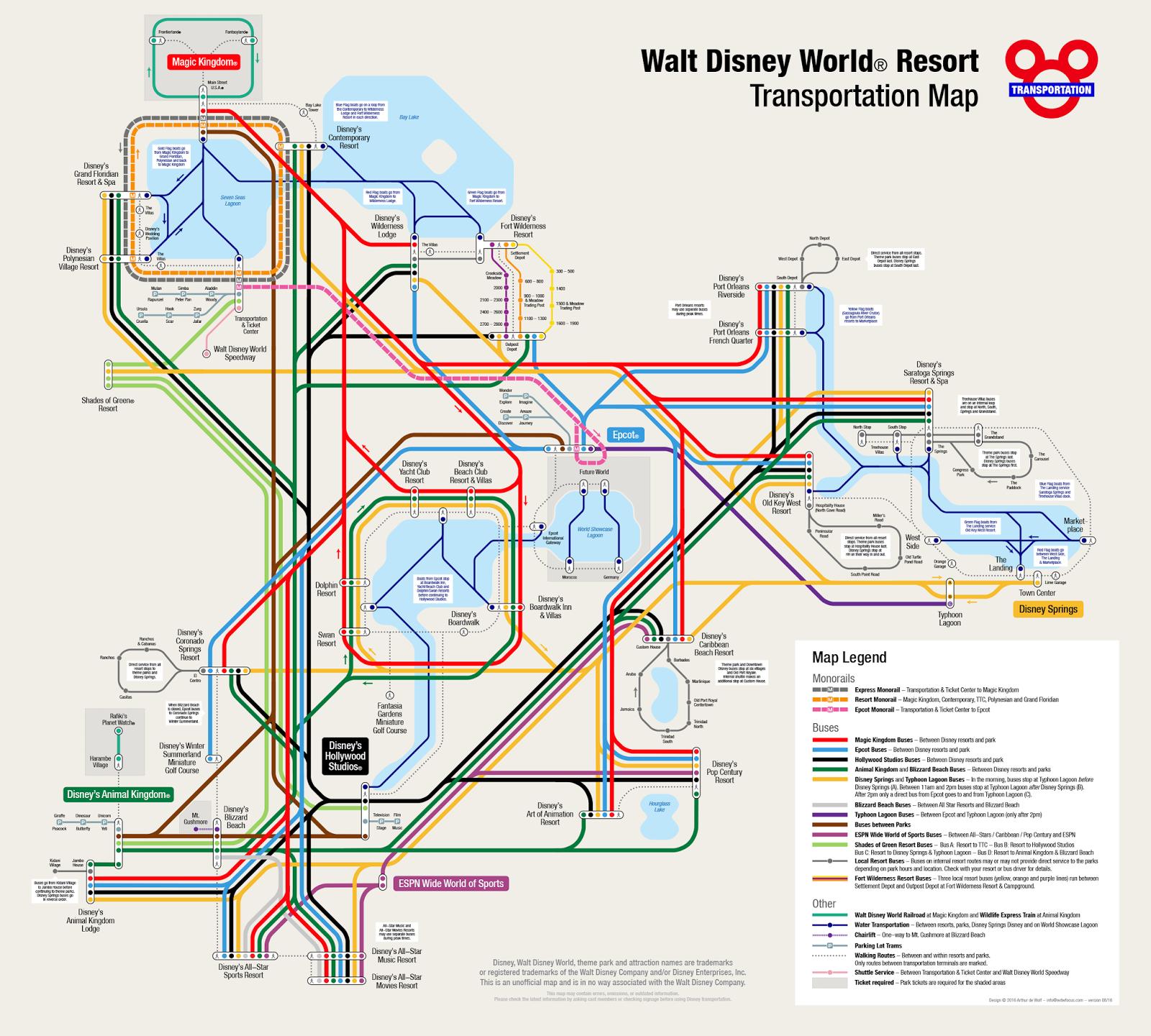 Disney Transportation Map