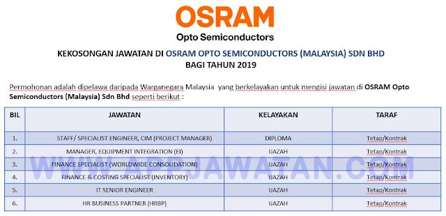 OSRAM Opto Semiconductors (Malaysia) Sdn Bhd.