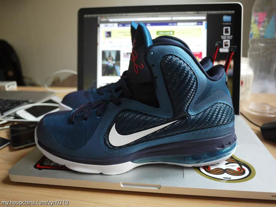 6df9e865d Nike LeBron 9. Green Abyss White-Obsidian-Light Blue Heather 469764-300  03 02 12