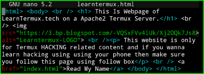 Apache2 Termux : Install and Use Apache2 Server in Termux