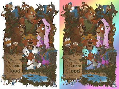 Disney's Robin Hood Screen Print by Mainger x Eyeland Prints x Bottleneck Gallery