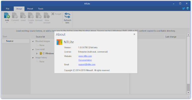 Screenshot NTLite Enterprise 1.8.0.6790 Full Version