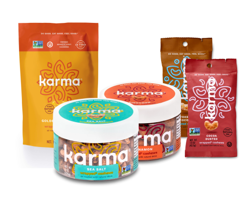 free jar or pouch of karma nuts