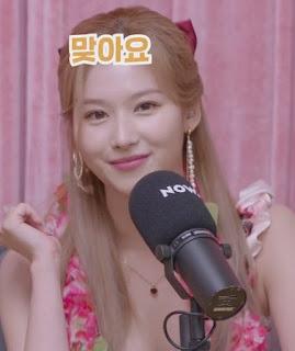TWICE Sana on Miyeon Gossip Idle