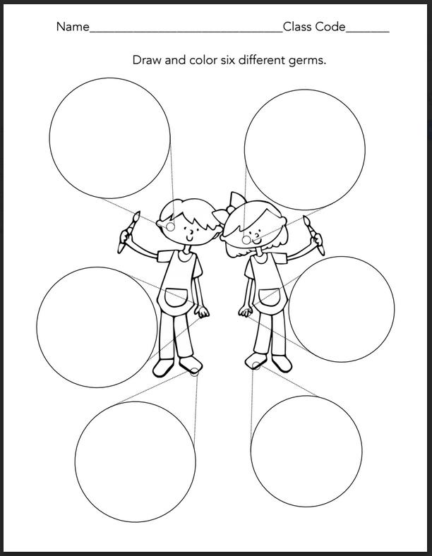 The Artsy Fartsy Art Room: Kindergarten & 1st Grade Germs!