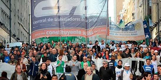 La CTA Autónoma junto a organizaciones sindicales y sociales realizan una Jornada Nacional de Lucha con paros y movilizaciones en todo el país