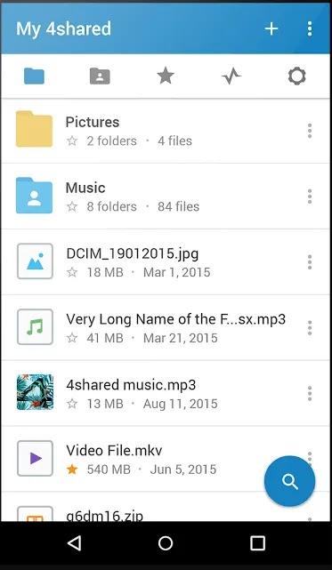 تحميل مجاني للموسيقى تطبيقات android-4shared