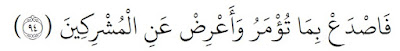 Jelaskan maksud yang terkandung dari kandungan surat al-Hijr ayat 94