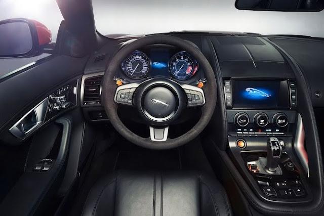 review interior  Jaguar F-Type coupe