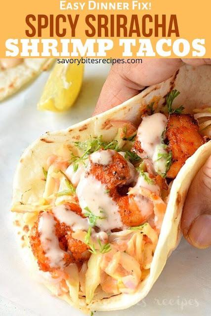 best tacos sriracha shrimp tacos