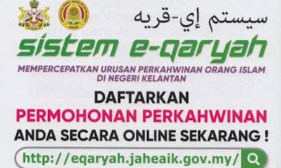 Permohonan Berkahwin Negeri Kelantan 2020 Online Melalui eQaryah (Semakan Status)