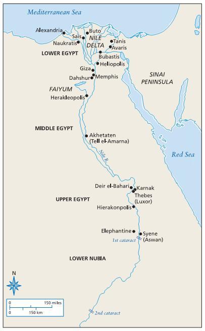 Agypten Konig Agypten Karte