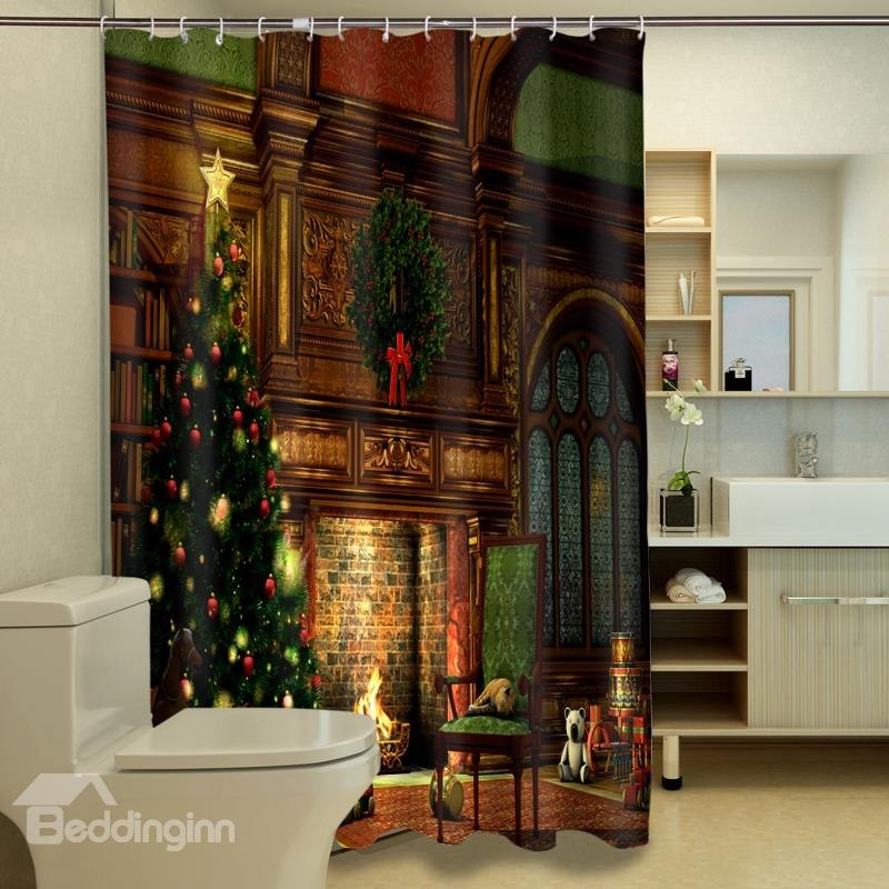 Christmas Shower Curtain Rings