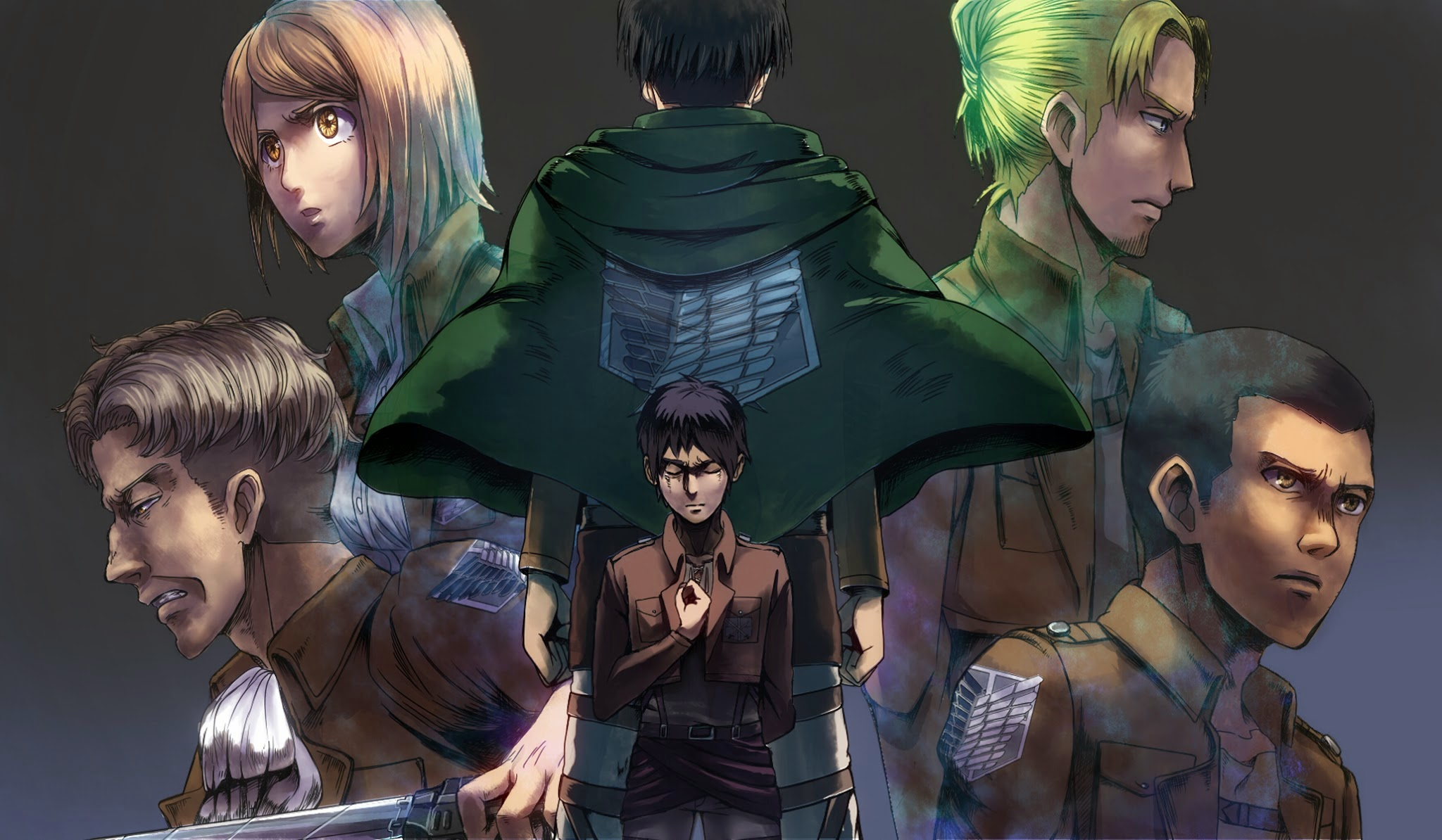 Attack On Titan Wallpaper Levi Squad