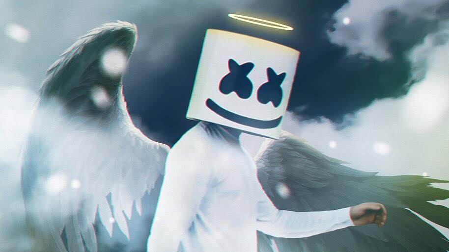 DJ, Marshmello, Angel, 4K, #4.1394
