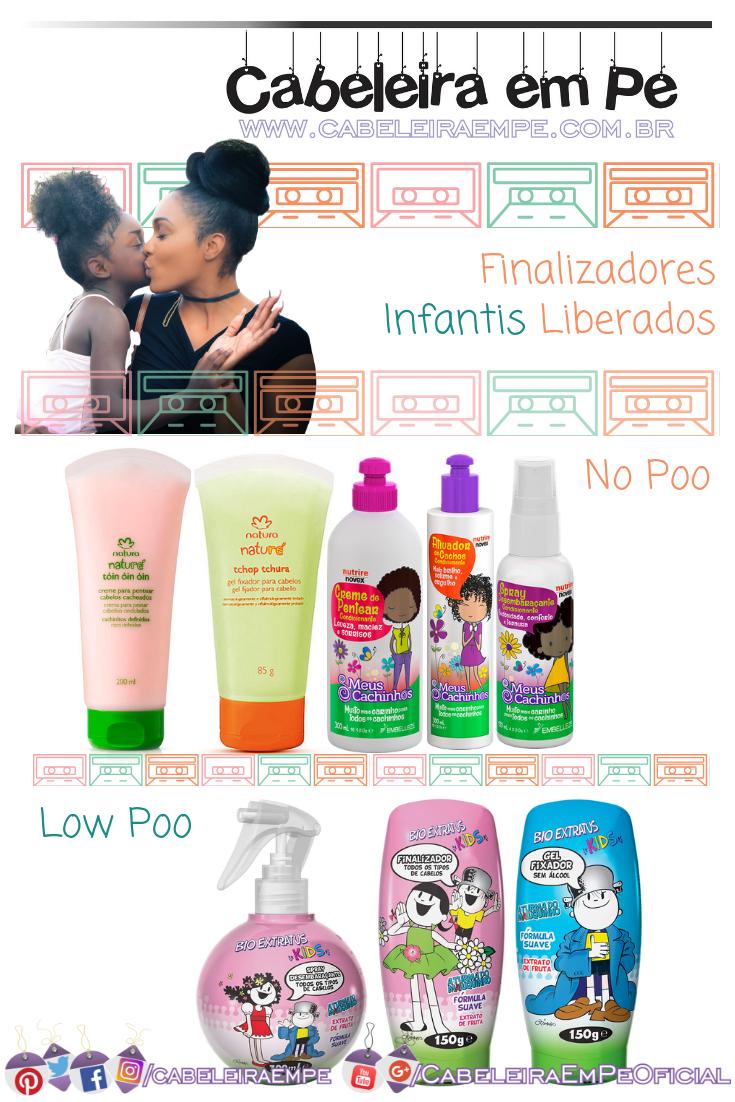 Sprays desembaraçantes, Cremes para Pentear e Gel Infantil das marcas Natura e Embelleze (No Poo) - Bio Extratus (Low Poo) - Produtos Low Poo Infantil