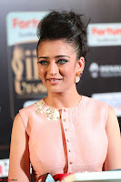 Akshara Haasan in Peachy Crop Top Choli Skirt at IIFA Utsavam Awards 52.JPG