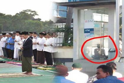 Viral, Pria Ini Sulap Tempat ATM Jadi Lokasi Sholat Idul Fitri