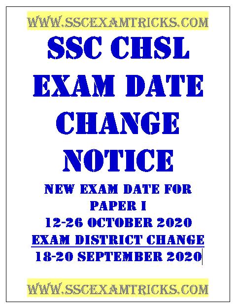 SSC CHSL Admit Exam Date