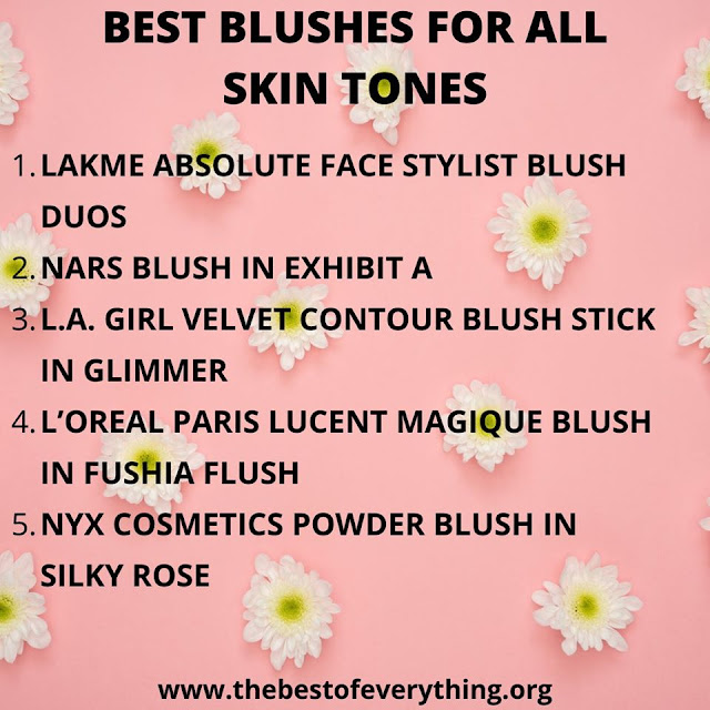 List of BEST BLUSHES FOR ALL SKIN TONES