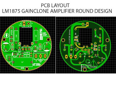 LM1875 Power Amplifier Rounded PCB design gerber file