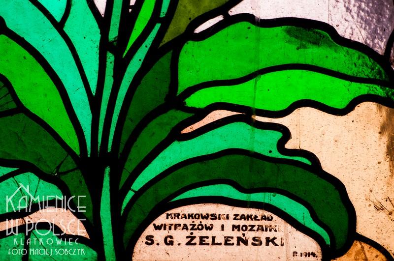 Kraków. Kamienica. Witraż. Secesja. Maki. Żeleński.