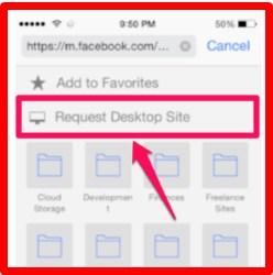 view facebook desktop site on iphone