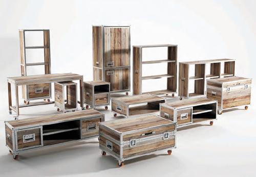 Inspirasi Furnitur Kayu Daur Ulang Desain Rumah Modern