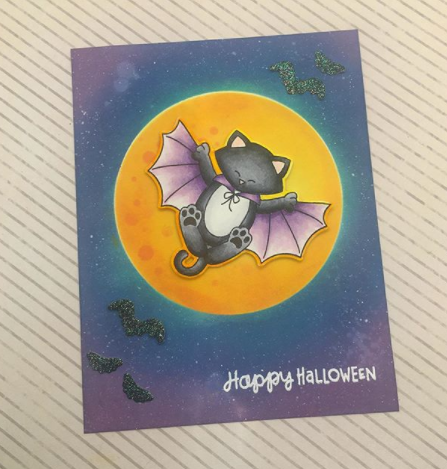 Happy Halloween by Claire L. features Batty Newton by Newton's Nook Designs; #newtonsnook