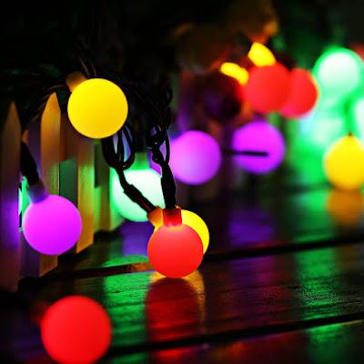luces solares de colores