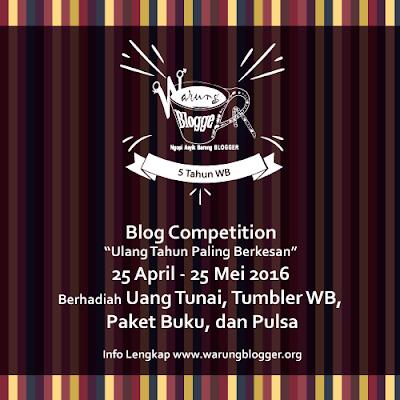 Kompetisi Blog 5 Tahun Warung Blogger