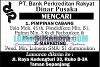 Loker Surabaya di PT. Bank Perkreditan Rakyat Dinar Pusaka November 2019