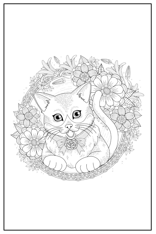 Download Wallpaper Coloriage chat mandala