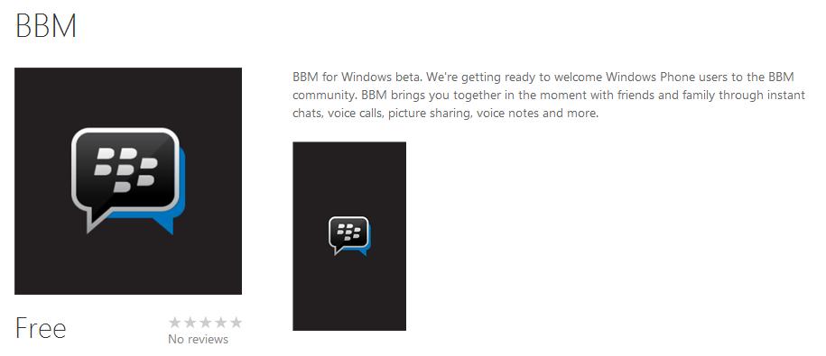 Download BBM untuk Windows Phone [BETA]
