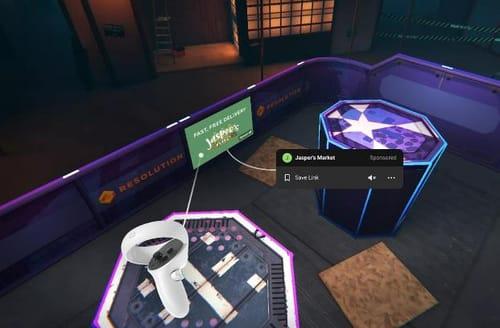 Facebook ads enter virtual reality