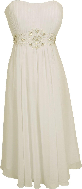 Dress4Cutelady Strapless Chiffon Goddess Gown Prom Dress