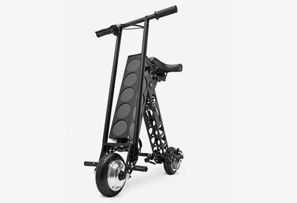URB-E Black Label Electric Folding Scooter 20 mile range and a top speed of 15mph