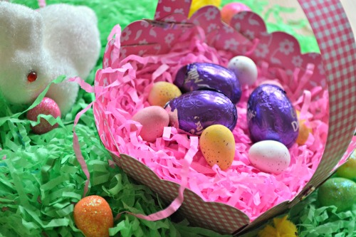 Home made Easter basket for kids from baker ross