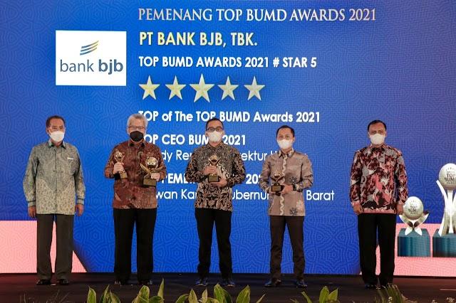 Bank bjb  Sabet  Penghargaan TOP  Of The BUMD Award 2021