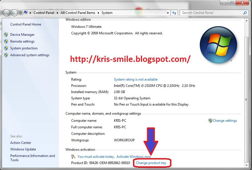 Windows 7 Serial Number